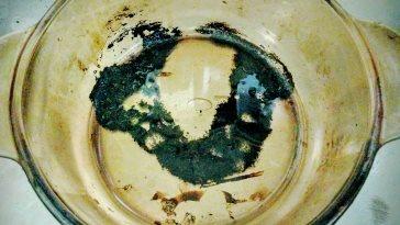 鍋の焦げ耐熱ガラス鍋1